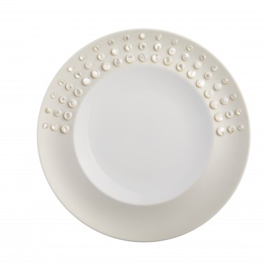 Supernova (porcelain dish and mother of pearl cabouchon)