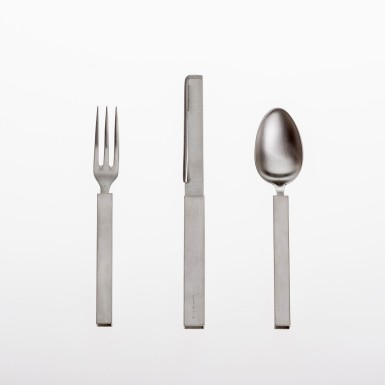 Silver and stainless steel cutlery