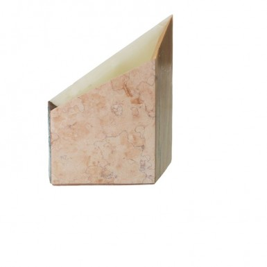 Pink marble, white, Giallo di Siena marble and enamelled cotto