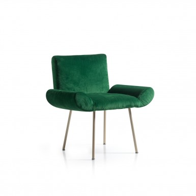 GINEVRA ARMCHAIR IN VELVET (DESIGNED FOR QUINTI SEDUTE)