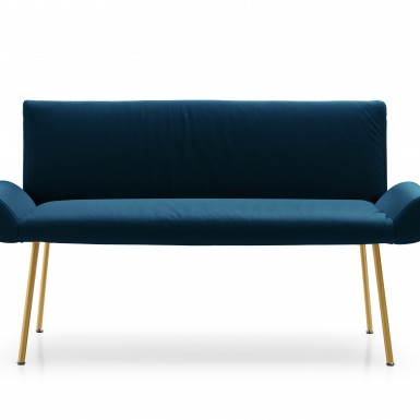 GINEVRA SOFA IN LEATHER  (DESIGNED FOR QUINTI SEDUTE)