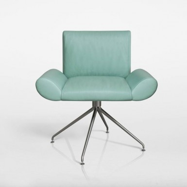 GINEVRA ARMCHAIR IN LEATHER (DESIGNED FOR QUINTI SEDUTE)