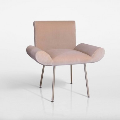 GINEVRA ARMACHAIR IN VELVET (DESIGNED FOR QUINTI SEDUTE)