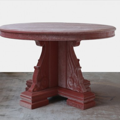 Renaissance table covered in velvet. UNIQUE PIECE