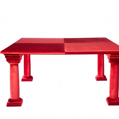 Table covered in velvet - UNIQUE PIECE
